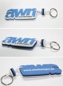 Schwimmende Schlüsselanhänger in jeder Form